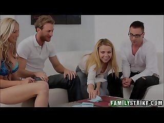 Family game night orgy with stepsister alina west