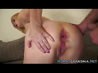 Rimmed and fucked granny