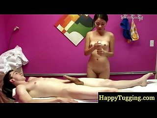Real asian masseuse pleasing client