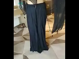 muslim rich lady riya black sari part 5