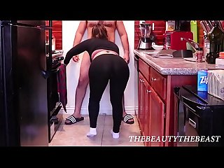 White Ankle Sock & Yoga Pant Fetish Blowjob & Fucking Through Hole In Pants