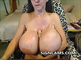 Mature With Big Silicone Fake Tits