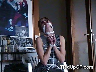 Teen gfs get tied up