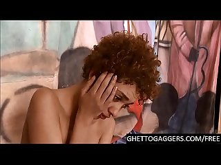 Face fucked dp d first timer breaks down at ghetto gaggers