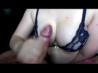 Big oily tits and oily cock a simple handjob