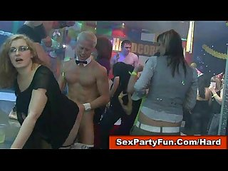 Girls next door fuck and suck male strippers at monster party