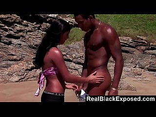 Realblackexposed big black cock for a hot beach fuck