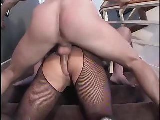 Asian milf ava devine moans while getting during double penetrated on the floor