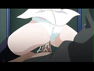 Anime wet pussy blonde student fucking in a close