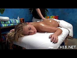 Very hot 18 year old pretty gets fucked hard from behind by her massagist