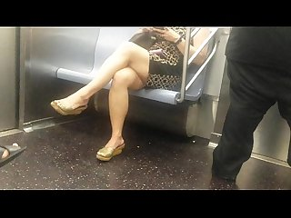 Juicy asian legs on Train