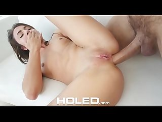 HOLED Tight anal fuck and mouthful with petite beauty Adria Rae