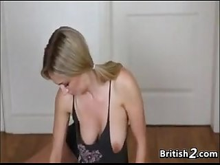 Blonde exposes her beautiful breasts