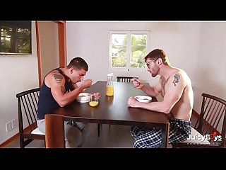 Bearded redhead dad and muscle son flip fuck pornhub com