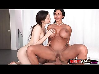 Busty stepmom jewels jade horny threeway in the bedroom
