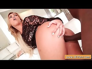 Kelsi Monroe dressed in very sexy lingerie gets fucked by a BBC