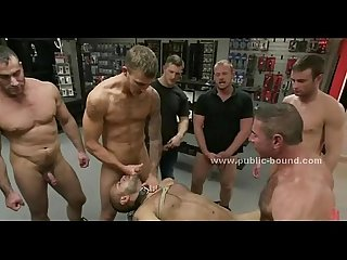Gay black and white slaves group sex