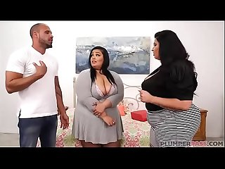 Sexy Mother and Step Daughter BBW Fuck Huge Latino Cock