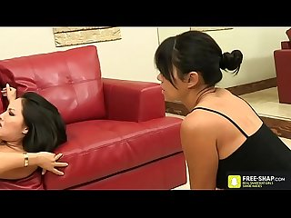 Hardcore fuck for Japanese Asian baby chocking and fuck here tight wet pussy