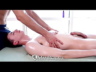 Manroyale rub down turns into oiled up Massage fuck