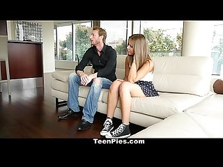 Teenpies brace face cutie creampied by father in law