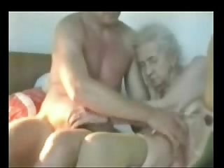 Very Old granny used by Young man period Real Amateur