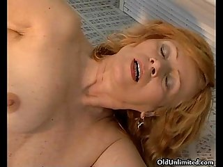 Horny mature housewife getting her large