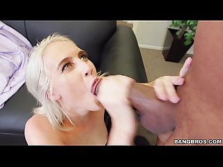 Small Blonde Gets Served Big Black Monster Cock