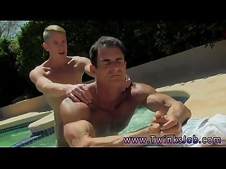 Automated masturbation for men gay Daddy Poolside Prick Loving
