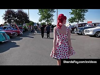 Canadian cougar shanda fay sucks fucks in vintage dress