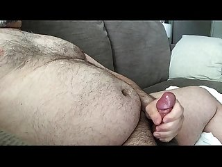Bear beating off with cumshot