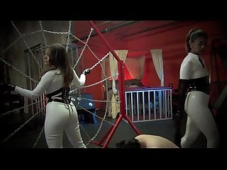FIRST TIME SLAVE GETS DOUBLE THE BEATING Starring Mistress Sherry Blossom feat Mistress..