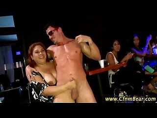 Cfnm stripper sucked by Amateur hotties at cfnm party