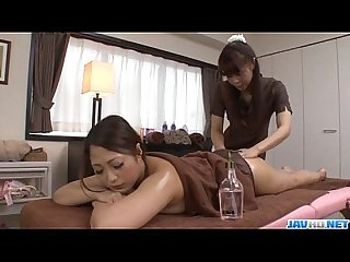 Superb massage session with a lesbian babe for Maika