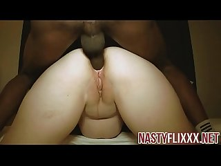 Gape her white ass