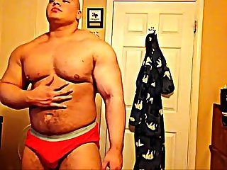 [beefymuscle.com] Megamuscle boy showing off his power