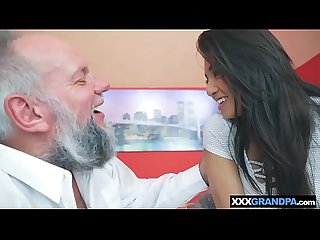 Grandpa licks and fucks hot latina teen frida sante