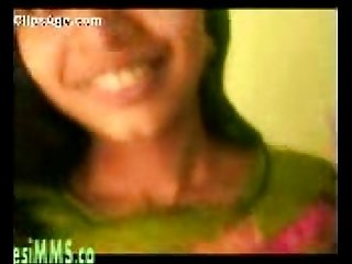Cute Desi cousin gets her boobs pressed at home mms