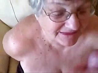 Old granny really loves young cock period great amateur facial