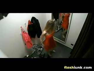 Sexy teen spied on in a dressing room