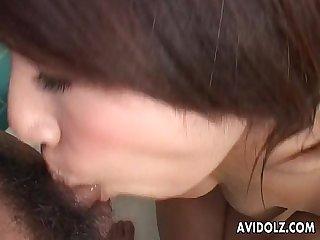 Pretty Akira ichinose blowjob and tit job