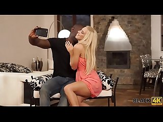 BLACK4K. Cute blonde girl really loves BBC of her new boyfriend