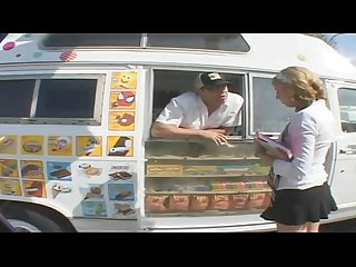 Young babe fucked in the icecream truck