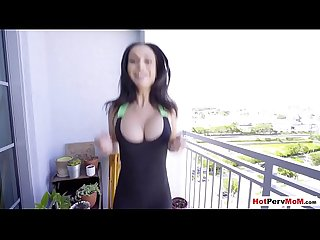 Almost got caught while fucked my russian MILF stepmom