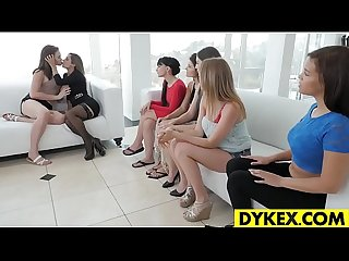 Amazing lesbian orgy with beautiful girls