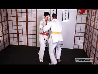 Two young judokas Enzo Lemercier & Timy Detours fucking on the tatami