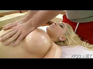 Lovely drilling after massage