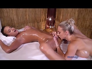 Massage Rooms Sexy brunette Amirah Adara and big tits blonde Nathaly Cherie