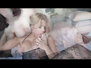 Lesbians Suck and Slap Tits and Eat pussy