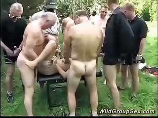 wild german outdoor fuck party